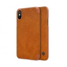Чехол кожаный для iPhone X Nillkin Qin