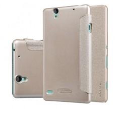 Чехол для Sony Xperia C4 Nillkin Sparkle (Кожа+пластик)