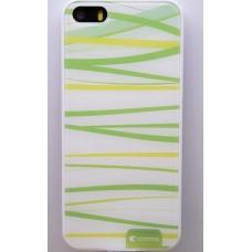Чехол пластиковый для iPhone 5 Comma Hard Case (Зеленые полоски)