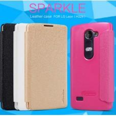 Чехол кожаный для LG H324 Leon Nillkin Sparkle Series