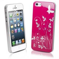 """Чехол пластиковый для iPhone 5 """"Butterfly&Flowers"""""""