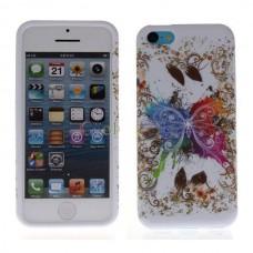 """Чехол силиконовый для iPhone 5С """"Flower Butterfly"""""""