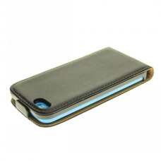"""Чехол кожаный для iPhone 5C """"Вертикальный флип"""""""
