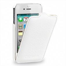 "Чехол кожаный (флип) для Apple iPhone 4/4S TETDED ""White satin"""