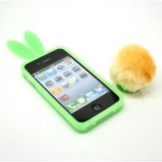 """Чехол силиконовый для iPhone 4/4S """"Заячьи ушки"""""""