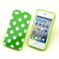 """Чехол пластиковый для iPhone 4/4S """"Горошек"""""""