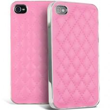 """Чехол пластик + кожа для iPhone 4/4S """"Прошивка ромб"""""""