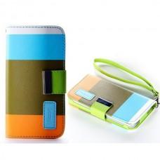 Чехол кожаный для iPhone 4/4S (разноцветный)