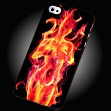 Чехол пластиковый Люминесцентный c 3 Д эффектом для iPhone 4/4S