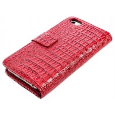 "Чехол кожаный для iPhone 5 ""Crocodile"""
