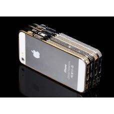 Бампер iFashion Diamond для iPhone 5 (серебро/золото)