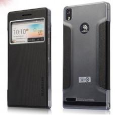 "Чехол для Huawei Ascend P6 ""Pageantry"" пластик + кожа"