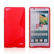 """Чехол силиконовый для Huawei Ascend P7 """"Wavy Silhouette"""""""