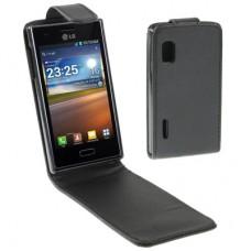 Чехол кожаный для LG Optimus L5