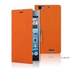 """Чехол кожаный для Lenovo K900 """"Wood Fiber"""" Mofi"""
