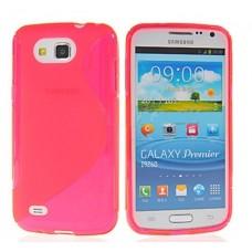 """Чехол силиконовый для Samsung Galaxy Premier i9260 """"Wave"""""""