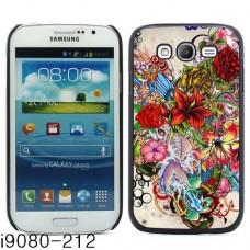"""Чехол алюминиевый для Samsung Galaxy Grand I9080 """"Flowers"""""""