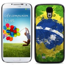 """Чехол алюминиевый для Samsung Galaxy S4 I9500 5"""" Brazil Flag"""