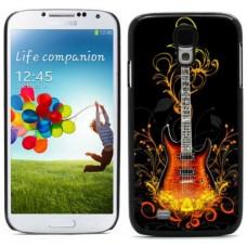 """Чехол алюминиевый для Samsung Galaxy S4 I9500 5"""" Guitar Abstract"""