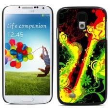 """Чехол алюминиевый для Samsung Galaxy S4 I9500 5"""" Jamaica Rasta"""