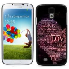 """Чехол алюминиевый для Samsung Galaxy S4 I9500 5"""" """"Love"""""""