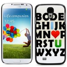 """Чехол алюминиевый для Samsung Galaxy S4 I9500 5"""" """"Алфавит"""""""