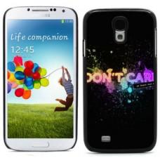 """Чехол алюминиевый для Samsung Galaxy S4 I9500 5"""" I Don't Care"""