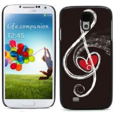Чехол алюминиевый для Samsung Galaxy S4 I9500 Ноты