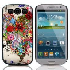Чехол алюминиевый для Samsung Galaxy S3 «Drawn Flowers»