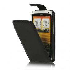 "Чехол кожаный для HTC One X S720e/HTC One XL черный 4.7"""