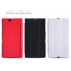 """Чехол для  Sony Xperia Z ULTRA кожа+пластик Nillkin """"Dramer""""+ защитная пленка в подарок!"""