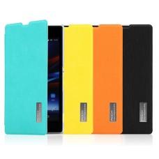 """Чехол-книжка для Sony Xperia Z1 """"Elegant Series"""" ROCK + защитная пленка в подарок!"""