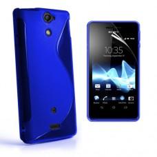 """Чехол силиконовый для Sony Xperia V LT25i """"Wave"""""""