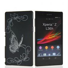 """Чехол пластиковый для Sony Xperia Z L36h """"Butterfly"""""""