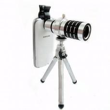 Универсальный 12-ти кратный оптический объектив + Чехол + штатив