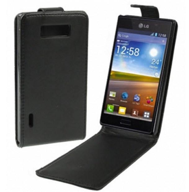 Чехол кожаный для LG Optimus L7 по низкой цене